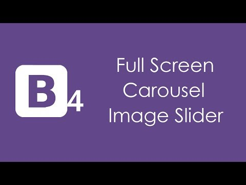 Bootstrap 4 Full Screen Image Slider - HTML5 and CSS3 Tutorial thumbnail