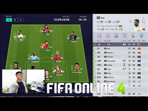 FIFA ONLINE 4: Mở Thẻ, Đập Thẻ & Trải Nghiệm PELE, HULK, NEYMAR MC Cùng Dàn Team BRASIL MC Leo Rank