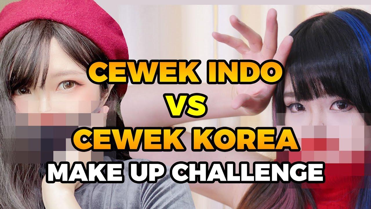 Cewek Indo vs Cewek Korea Makeup Challenge: Tiny Face / Wajah Mini (ft. @Matcha Mei & Mimin)