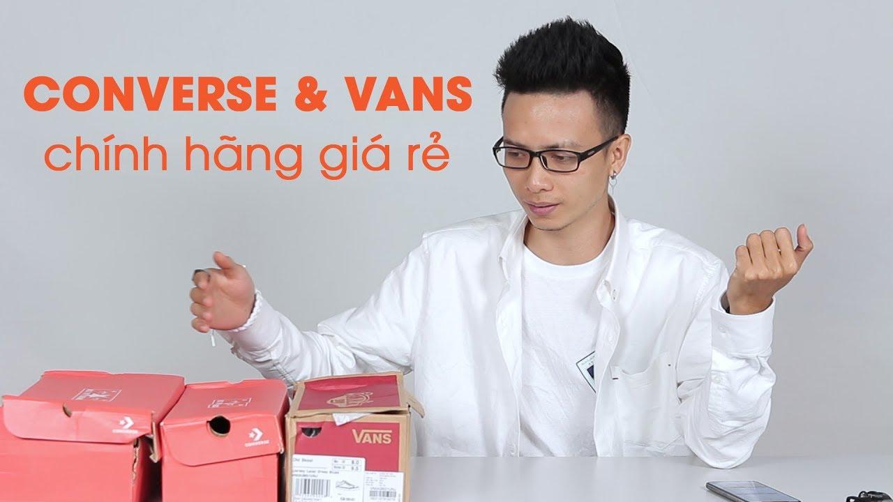 Lên Shopee mua giày Converse, Vans chính hãng giá rẻ