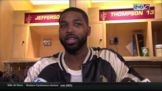 Tristan Thompson describes what happened with his finger, reveals if the streak is in jeopardy