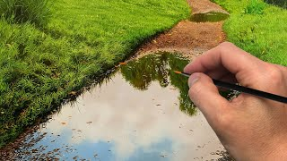 Painting a Puddle on a Path  Episode 197