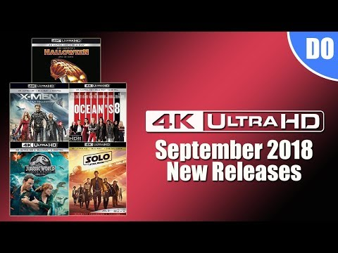 September 2018 4K Ultra HD Blu-ray Releases