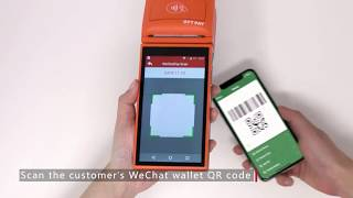 Completing a purchase with wechat pay and alipay empowered by ott is as easy 1,2,3: option 1: scan -- use the terminal to customer's phone op...