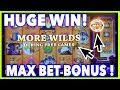 HUGE WIN on Buffalo MAX - MAX BET BONUS