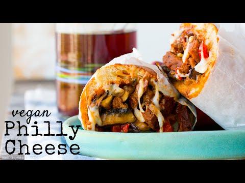 Vegan Mushroom Philly Cheese Sandwich