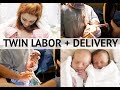 NATURAL TWIN LABOR + DELIVERY VLOG