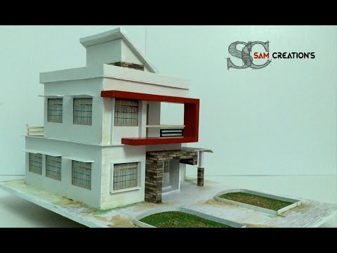 model making of modern architectural building 3 youtube