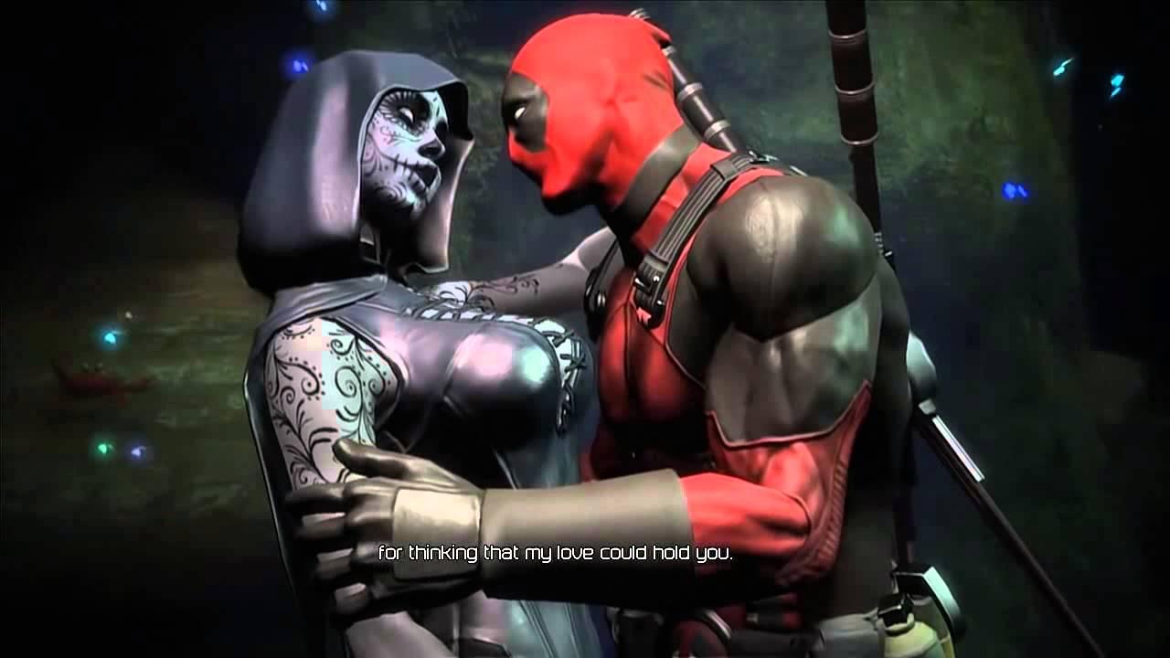 Deadpool - Cutscene - Deadpool And Death Lady Hot Romance ...