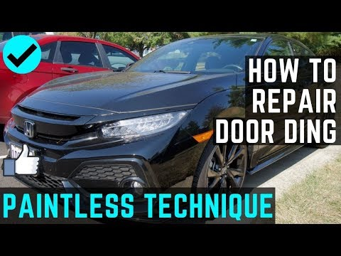 How To Repair A Door Ding With PDR Technique | Paintless Way | Honda Civic Sport