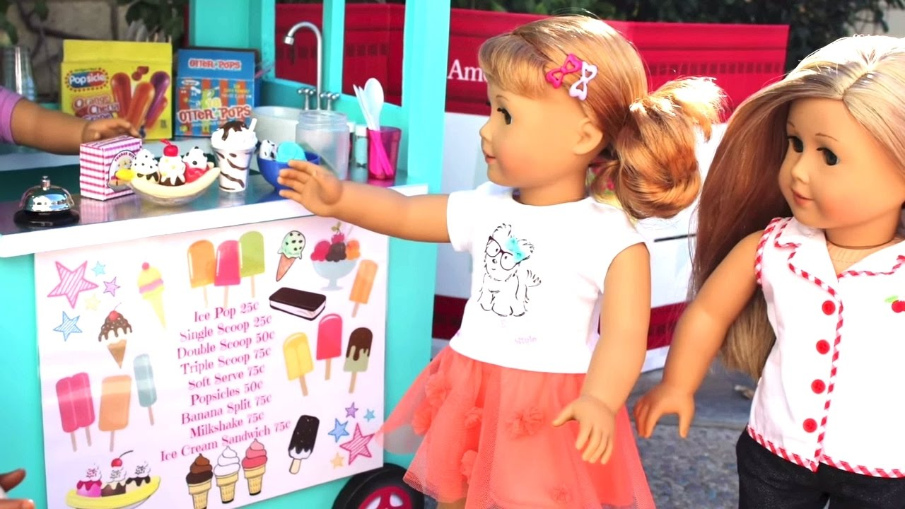 Diy American Girl Doll Ice Cream Truck Youtube