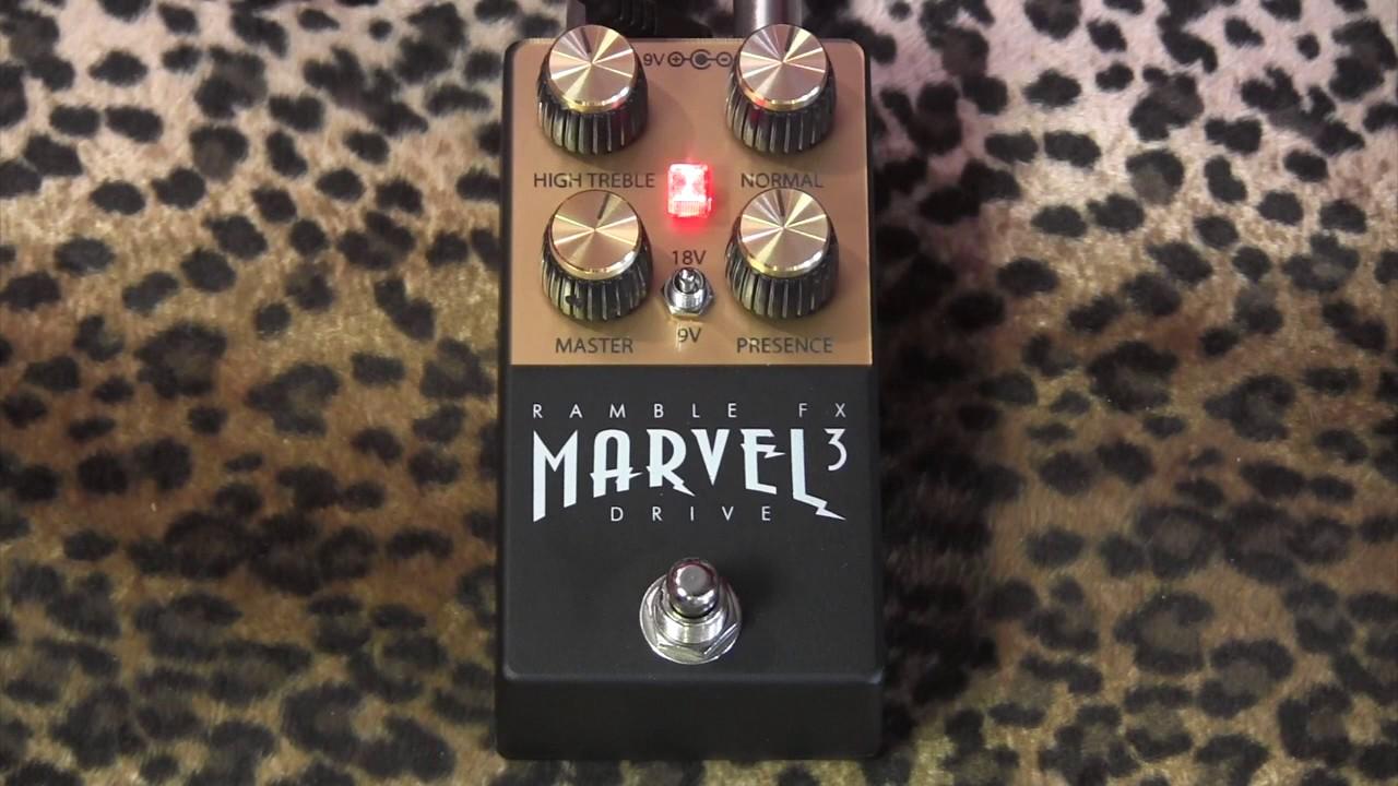 Ramble FX Marvel Drive 3 (Marshall Plexi in a box!) pedal demo