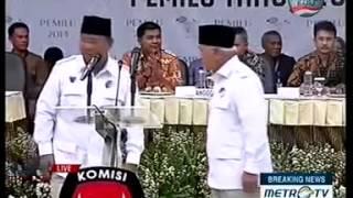 Inilah Video 3 Menit Pidato Prabowo-Jokowi di KPU | Nyata Bedanya!