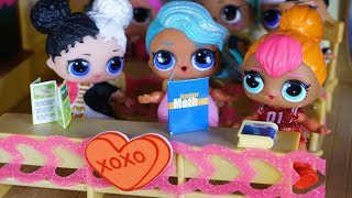LOL SURPRISE DOLLS Valentines Day At School!