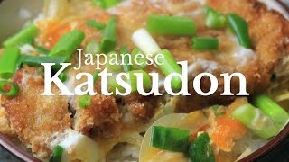How to make a Japanese Katsudon (Pork Cutlet & Egg Donburi) ~ Cooking with Mira