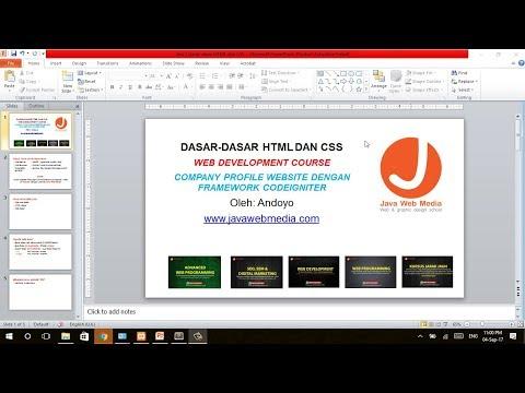 Sesi 1 Dasar Dasar HTML Dan CSS (Company Profile Web)