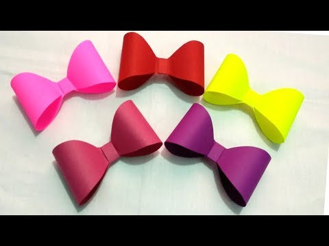 How to make a paper Bow/Ribbon|Easy Origami Bow/Ribbon