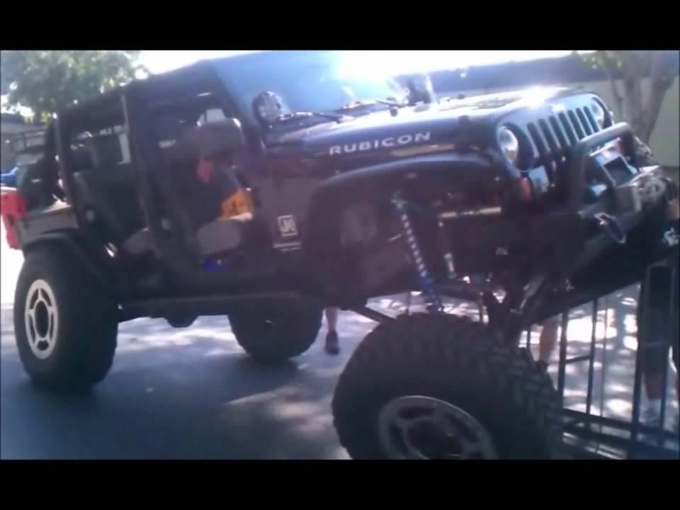 "Jeep Jk Tires >> Huck - Jeep JK Articulation Ramp 40"" Tires Coilover Lift - YouTube"