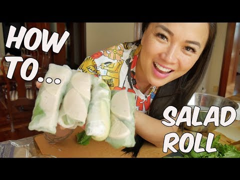 How to make EASY SALAD ROLL | SASVlogs