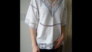 How to make a Hippie Blouse from a Table Cloth - OWIMO Design Upcycling Thumbnail