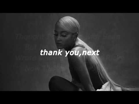 Ariana Grande -thank You, Next(lyrics)