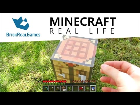 Minecraft Real Life How To Make Crafting Table Brickrealgames Youtube