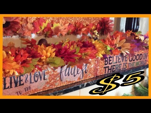 DIY BEAUTIFUL FLORAL BOUQUET BOX / DOLLAR TREE FALL CENTERPIECE