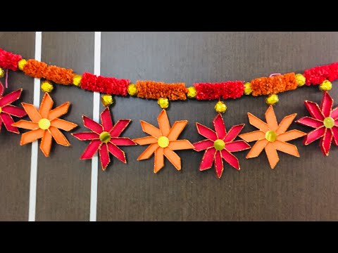 Door Hanging Toran for Diwali | Diwali decoration ideas at home | Best out of Waste