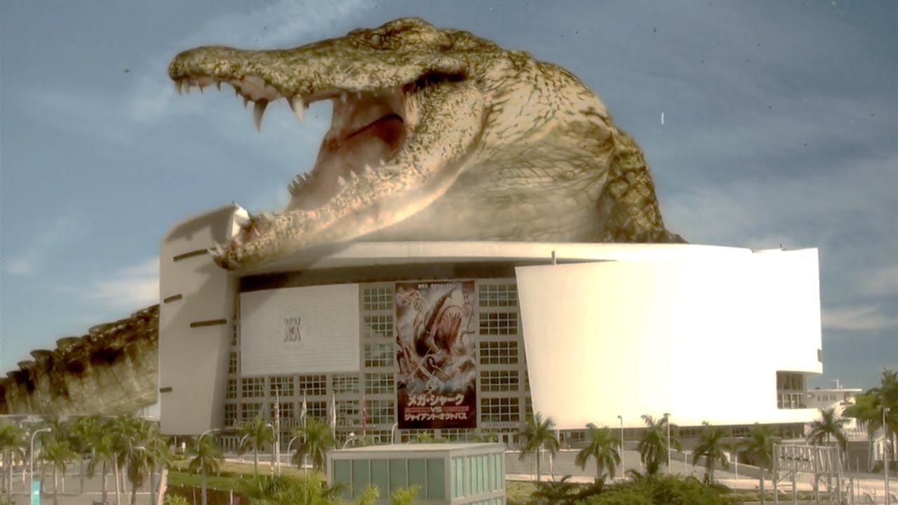 악어가 커봤자,  건물보다 크겠.......어?   [메가샤크2]
