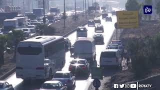 بدء العمل بالتحويلات المرورية على أوتوستراد عمان الزرقاء - (19-10-2019)