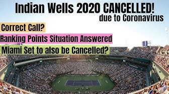 Indian Wells 2020 CANCELLED! Correct Call? Ranking Points Situation Answered