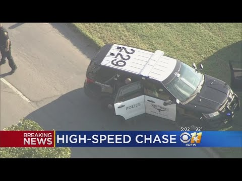 High-Speed Chase Starts In Fort Worth, Ends In Dallas