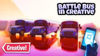 How to get *Battle Bus* in Creative Islands! (Fortnite Glitch)