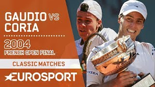 Gastón Gaudio vs Guillermo Coria   French Open 2004 Men's Final Highlights   Eurosport