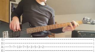 The White Stripes - Seven Nation Army (Bass Cover + Tabs)