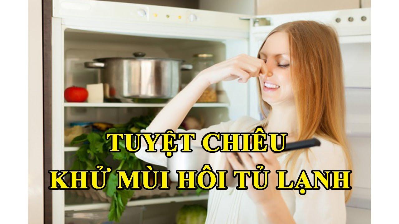 Mẹo hay khử mùi hôi tủ lạnh cực đơn giản