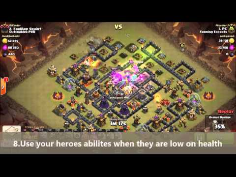 Clash Of Clans - New Elite 3 Golem 4 Pekka Gowipe Attack Strategy - Destroy Max Th10