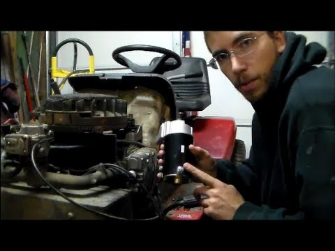 John Deere Riding Mower Wiring Diagram Briggs And Stratton 2 Cylinder Starter Replacement Youtube