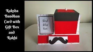DIY Gift Box in a Card | How to make Raksha Bandhan Card for Brother at home | Handmade Card