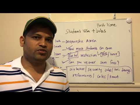 Part Time Jobs On Student Visa In Australia | Work Restriction On Student Visa