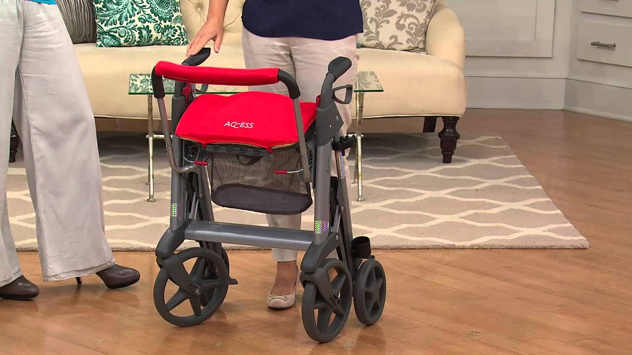 Active Design Rollator with Seat, Large Wheels & Hidden ...