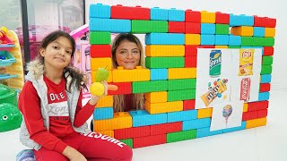 Masal and Öykü Pretend Play with Giant Vending Machine Kids Toy!!!