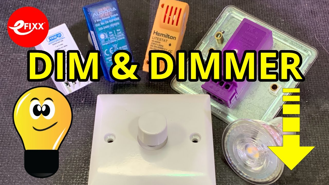 DIM & DIMMER - Choosing an LED lamp dimmer switch and setting the low end  light level - YouTube