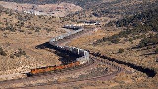 [HD] BNSF trains in the Northern Arizona Canyons! January 2018