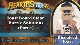Hearthstone Puzzle Labs - Toast Board Clear Puzzle Solutions (Part 1)