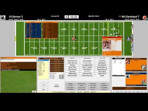 Denver Broncos 2015 vs Cleveland Browns 1965 NFL Challenge League 2nd QRT