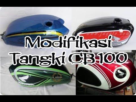 Jenis dan macam modifikasi tengki motor CB 100