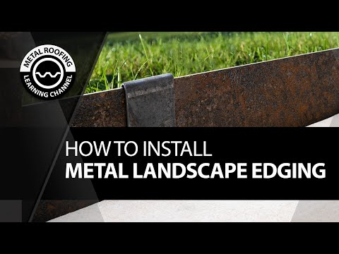 how-to-install-metal-landscape-edging.-metal-lawn-edging-and-garden-borders-in-corten-steel-edging