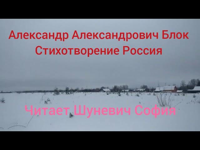 Изображение предпросмотра прочтения – СофияШуневич читает произведение «Россия» А.А.Блока