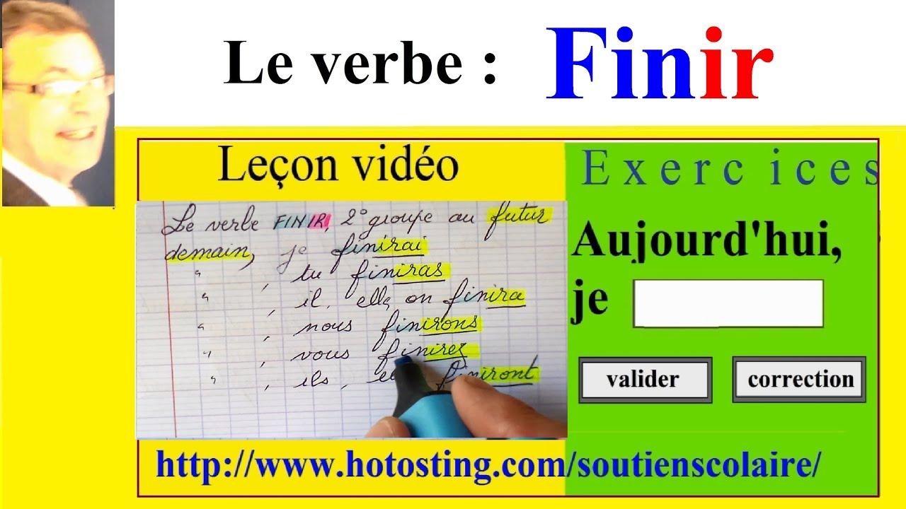 Conjugaison Finir 2eme Groupe A L Imparfait Au Present Et Au Futur Youtube